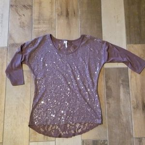 Sequins and Lace back top